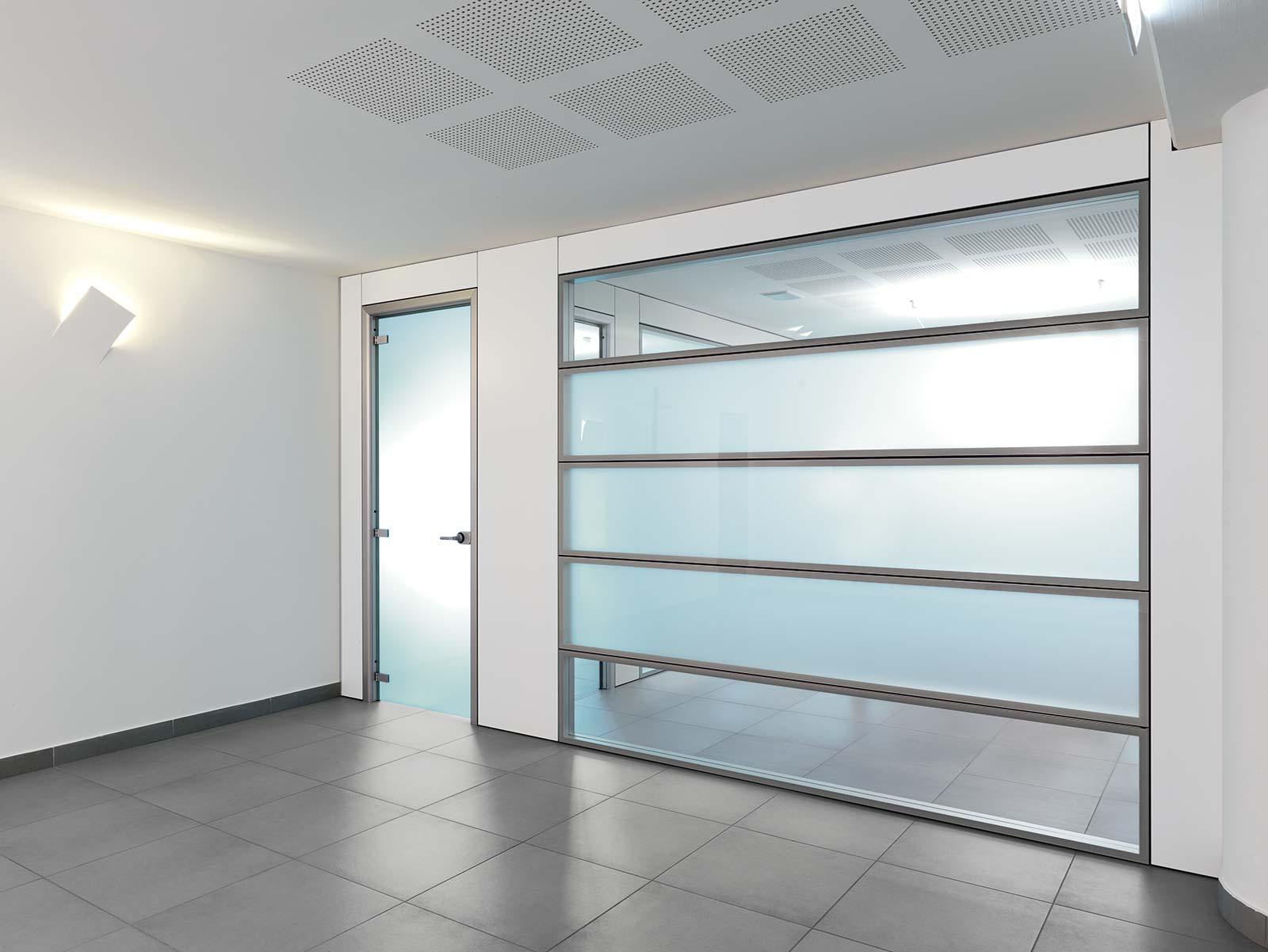 Pareti divisorie dm officina design - Parete divisoria in vetro prezzi ...